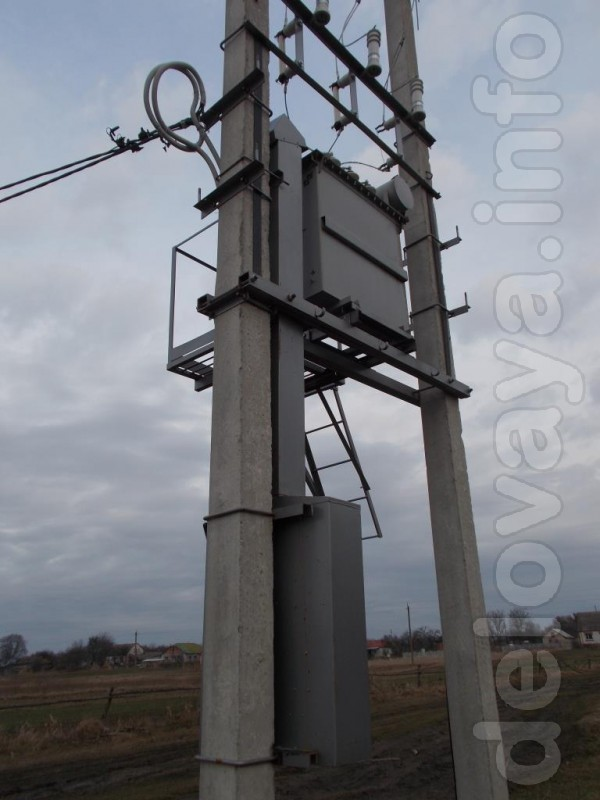 Комплектна трансформаторна підстанція стовпового типу КТПС потужністю