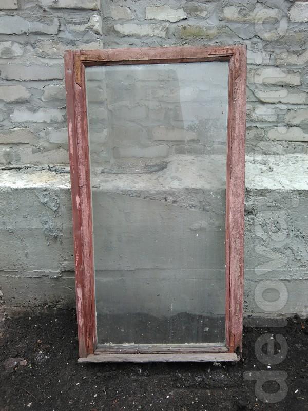 Продам деревянные оконные рамы б/у, размер 1200х600 (17 шт.) Цена 50