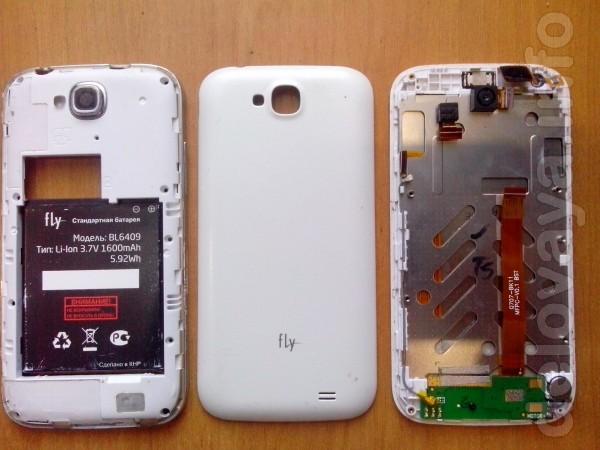 Остатки от телефона Fly IQ4406 ERA Nano6, при замене сенсора криворук