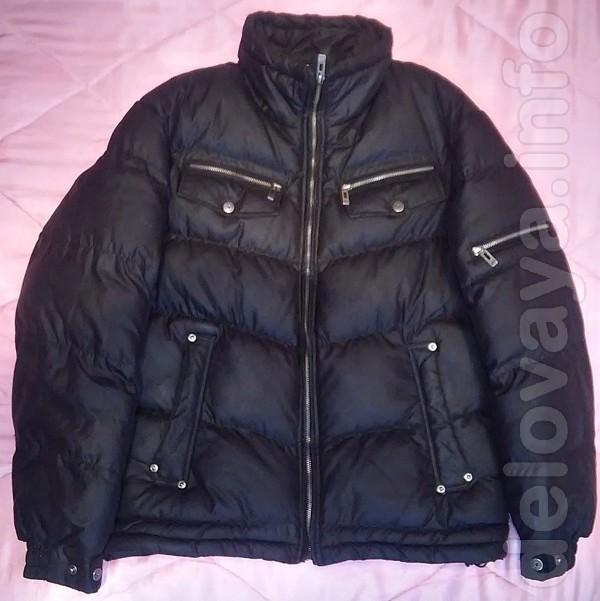 Куртка мужская, р.48-50. Б/У. Цвет: Черная, в отличном состоянии, фур