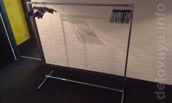 Продам торговую стойку для одежды бу. Стойка однорядная. Материал хр