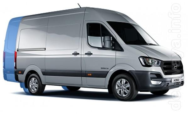 Hyundai -350 Новый цельнометаллический фургон. Габаритные размеры(ДхШ