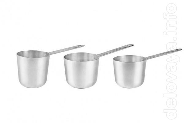 Алюминиевые кофеварки- турки разных размеров.  Надежная и добротная п