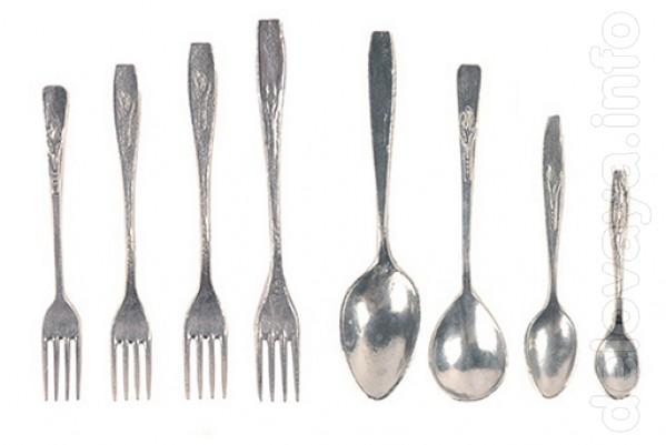 Алюминиевые литые ложки и вилки разных размеров. Надежная и добротная