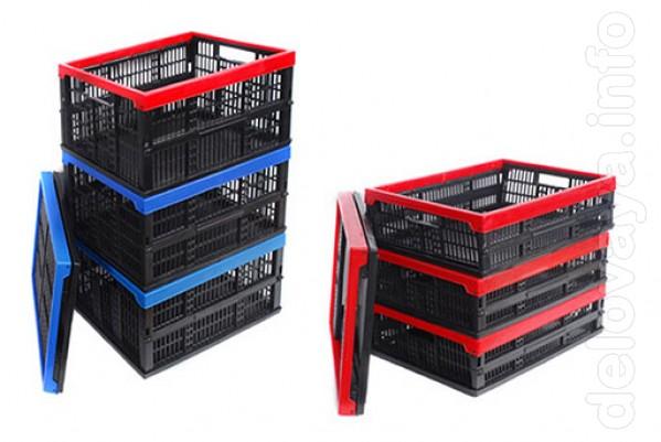 Пластмассовые складные ящики для пищевых. Выпускаются двух видов: 1.