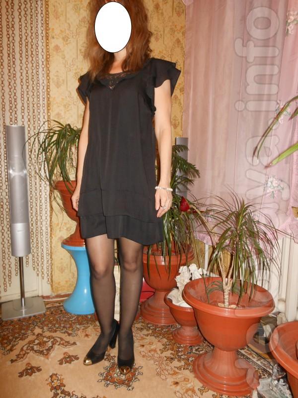 Маленькое чёрное платье Top Shop Размер - 44 - 46. Очень красиво смот