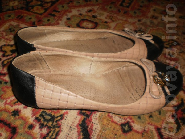 Кожаные туфельки 36-36,5 размера . мало б.у. 100 грн.