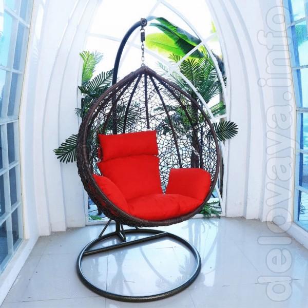 Невероятно удобное и красивое подвесное кресло кокон.  Кресло выполне