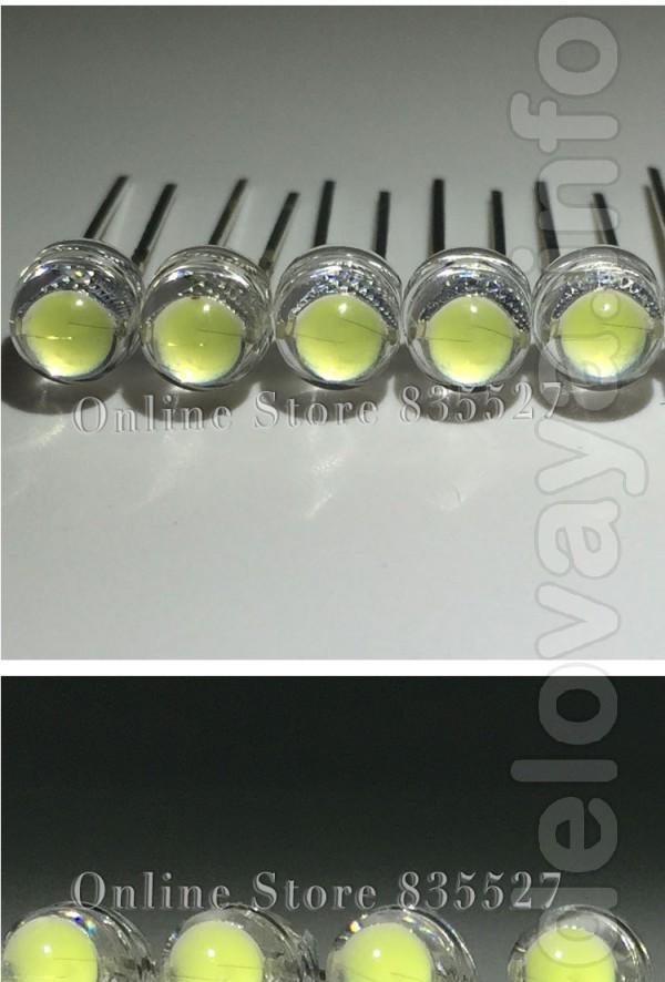 Новые ультраяркие светодиоды с увеличенным кристаллом диаметр - 5 мм.