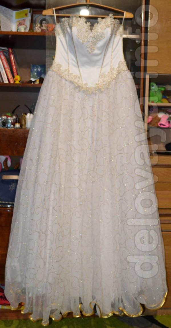 Продам свадебное платье,размер 46-50,600 грн.торг