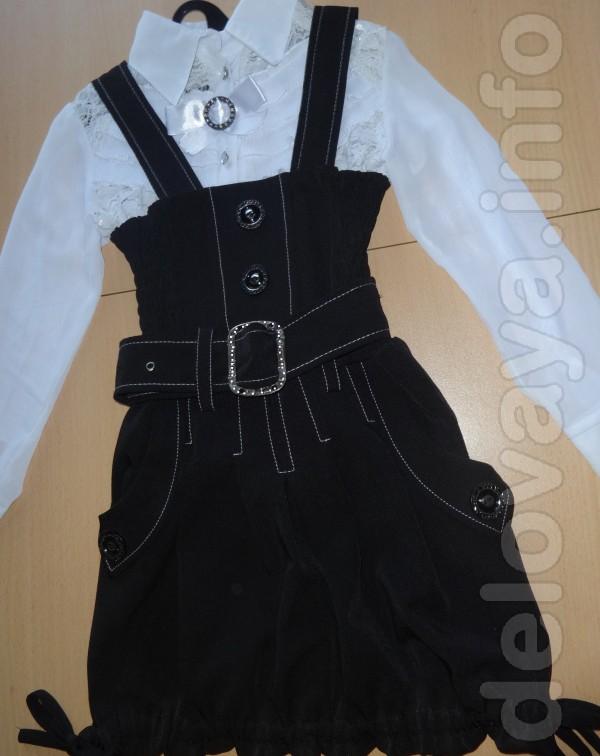 Школьная форма: сарафан(новый)+ блуза(б,у), в отличном состоянии для
