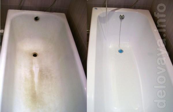 Реставрация ванн наливным акрилом. Гарантия 3 года. Качественно и не