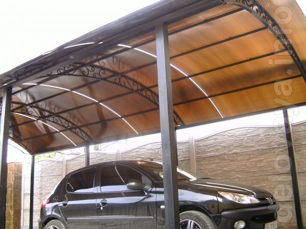 Изготовим навесы для автомобиля ,а также металлические двери ,ворота,