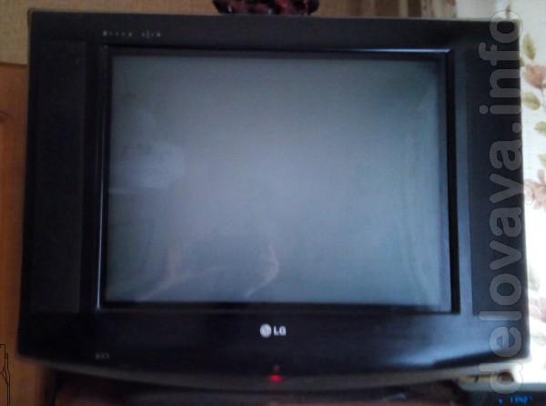 Продам кинескопный цветной тв LG с плоским экраном 21 дюйм (54см) суп