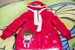 Деми куртка для девочки. Насыщенного красного цвета, трикотажный манж