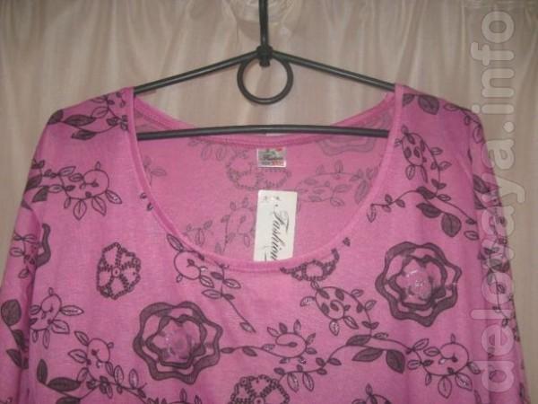 Продам женскую футболку с карманами. размер 52-54. ткань немного тяне