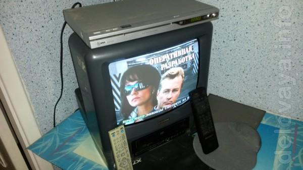 Телевизор 'Панасоник' и 'Шиваки' -37см (видеодвойка),музыкальный цент