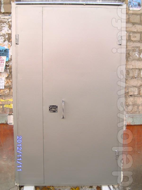 Изготовим двери на подъезд, двух створчатые ,металл 2 мм. кодовый зам