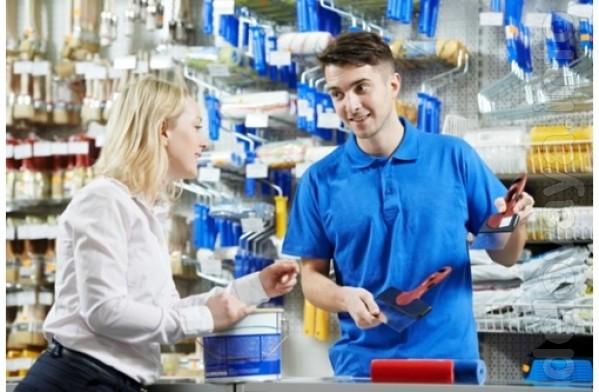 Строительному магазину на постоянную работу требуется продавец (возмо