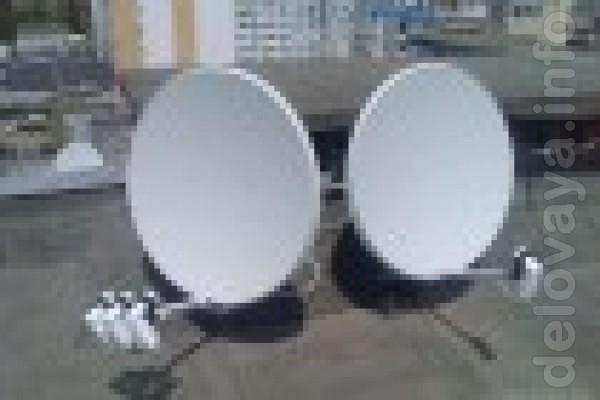 Установка спутниковых антенн, от 120 бесплатных каналов. Замена тюнер