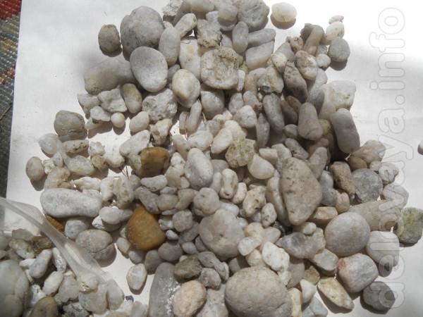 Продам аквариумный грунт .фракция от 3 до 9 мм .белый не морской ,6 к