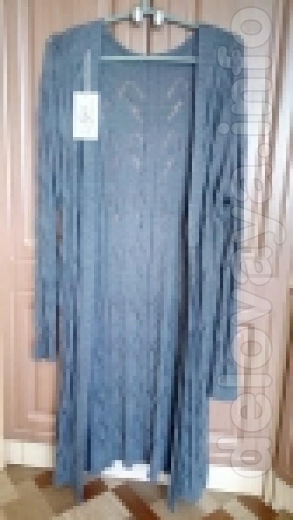 Женский новый кардиган из ажурной вязки  Размер: XXL(48-50)  Длина