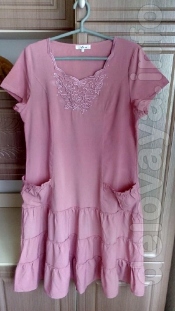 Новое платье 52 размер Цвет: розовый Длина 106 см