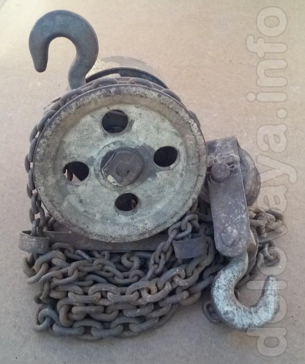 Таль цепная (лебедка) 3т., 2 крюка, 2 цепи, длина цепи 3м