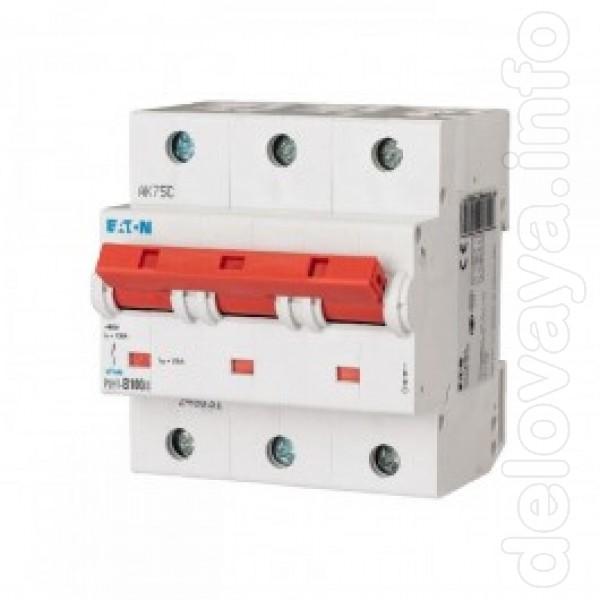 Продам автоматический выключатель трёхполюсный 100А Eaton PLHT-C100/3