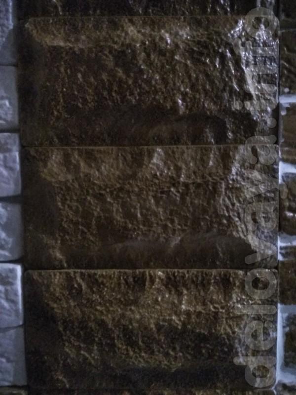 Декоративный  гипсовый  камень  булыжник.  Размер 245x120 мм.  S 1шт