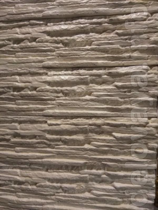 Декоративный  гипсовый  камень  руст.  Размер 485x145 мм.  S 1шт = 0,