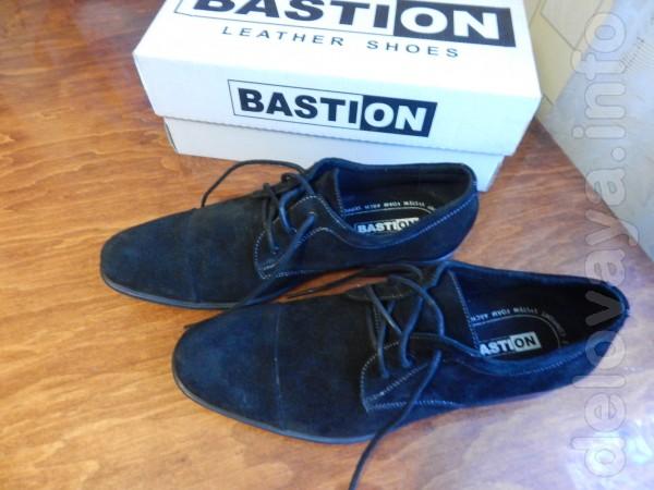 Мужские туфли из натурального замша. Фирма Бастион. Одевались один ра