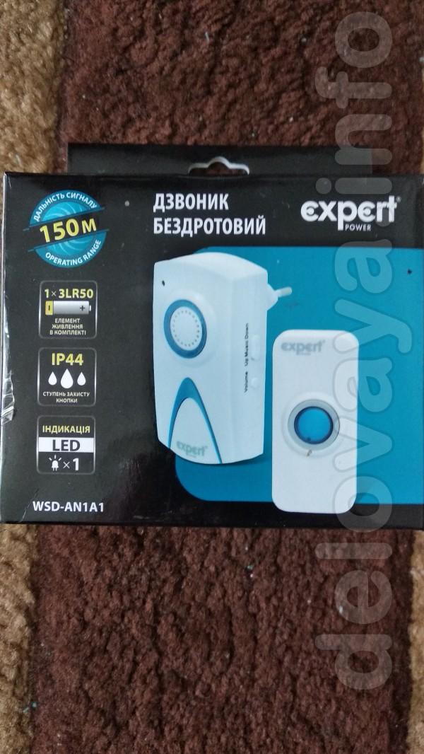 Продам беспроводной дверной новый звонок  Expert  WSD-AN1A1  на 36 по
