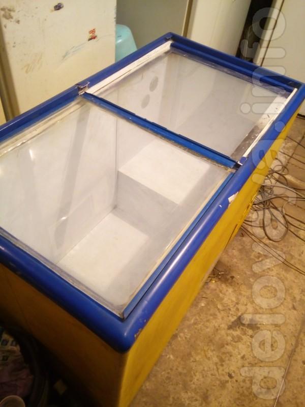 Морозильный ларь 300 литров, ровное стекло,  в норм. сост. все работа