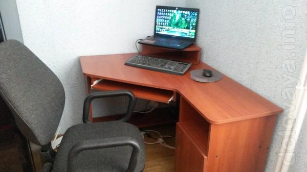 Ноутбук 'самсунг'- 2-х ядерн. ,,комп стол и кресло.3600 за все.