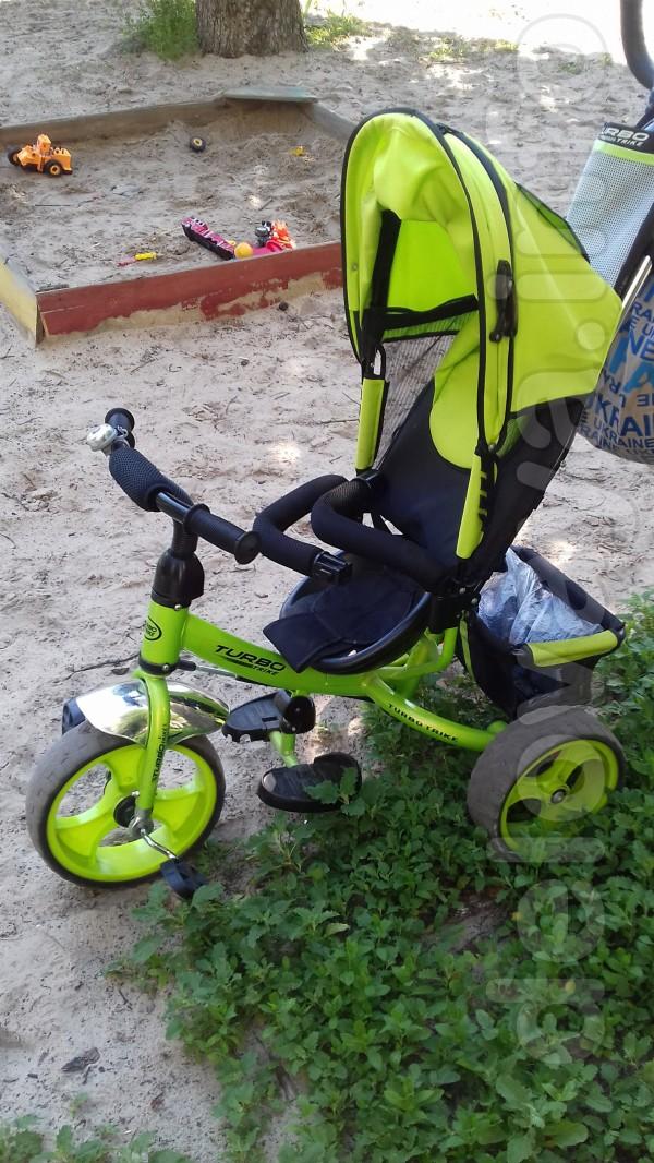Продам детский велосипед с родительской ручкой,состояние отличное