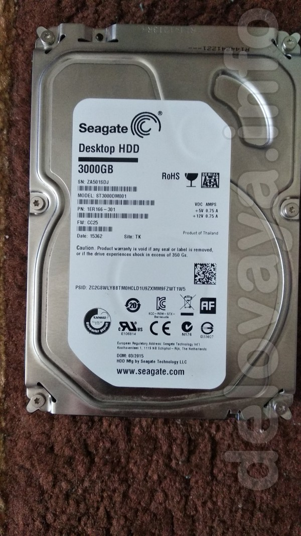 продам  Seagate Desktop HDD винчестер жесткий диск на 3000GB 3TB прои