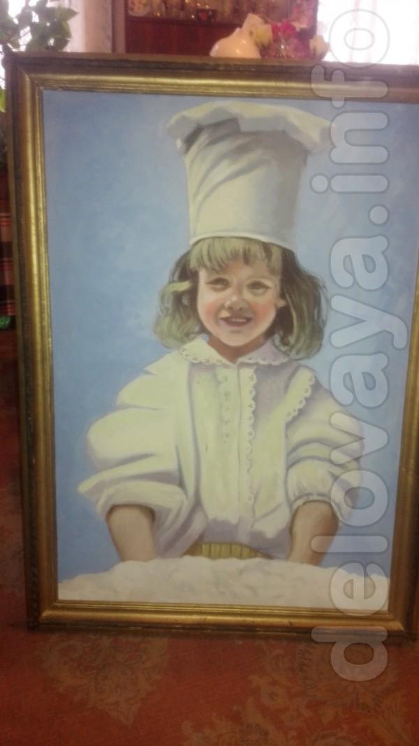 Картина написана местным мастером в конце 90-х годов. Размер: 100 см