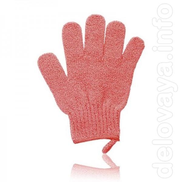 Массажная перчатка  Нейлоновая перчатка мягко отшелушивает ороговев