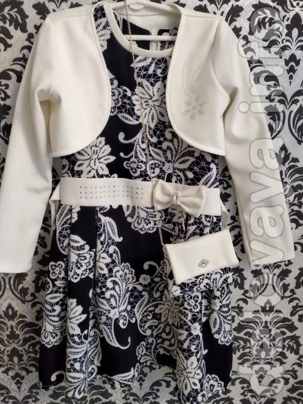 Детское платье с болеро и сумочкой, нарядное, в идеальном состоянии.