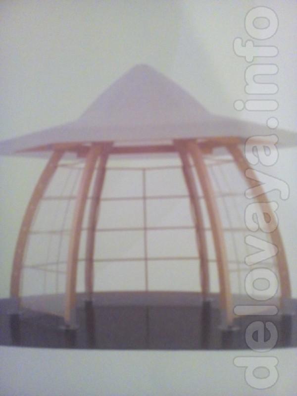 Компактная уютная Беседка для отдыха на свежем воздухе: Вес около 200