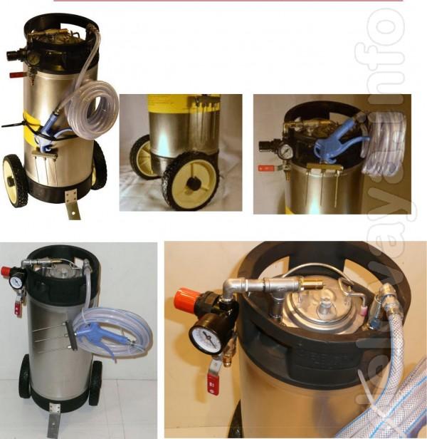 Инъектор пневматический 3-игольный, из нержавеющей стали, предназначе