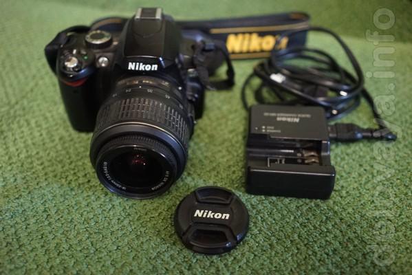 Продам фотоаппарат Nikon D60+объектив Nikon DX AF-S Nikkor 18-55 (б/у