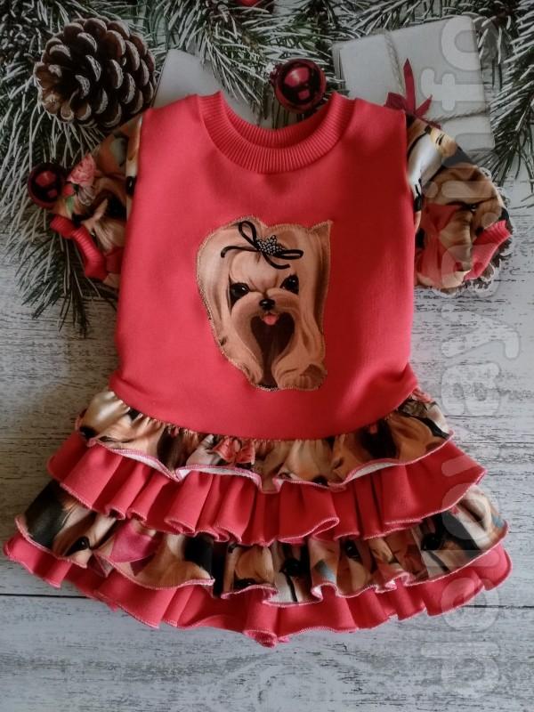 Платье для собачки, размеры по вашим заказам, ткань трикотаж
