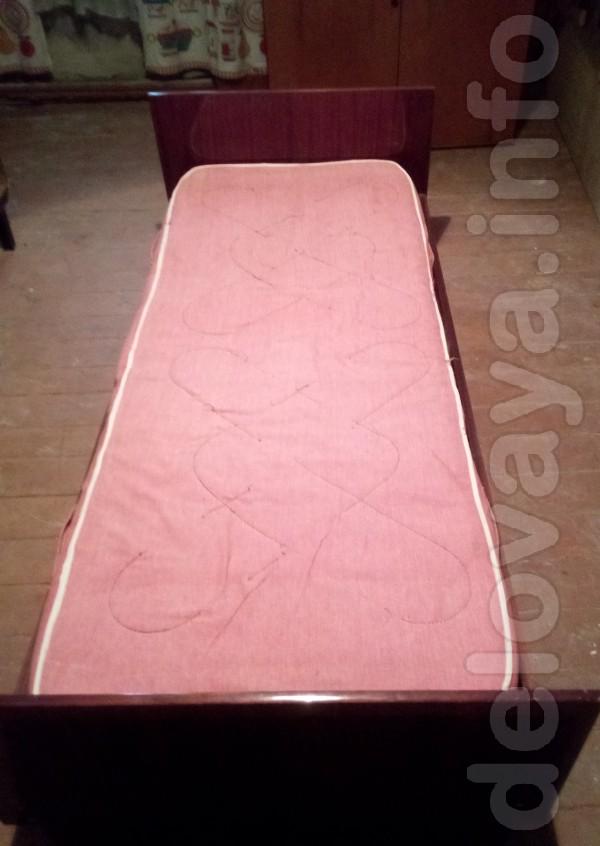 Кровать + матрац = 550 грн Размер 190х87 см.