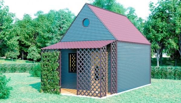 Строительная компания HBuilder предлагает дачный садовый домик. Станд