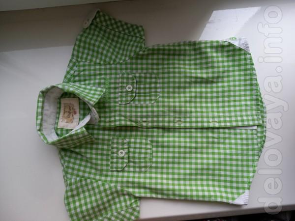 Продам рубашку летн. на мальчика, хор. сост., на возр. 5-7 мес. - 100