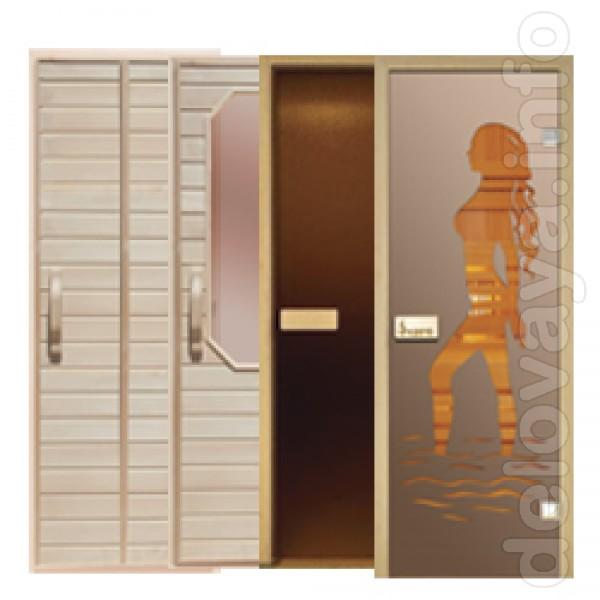 Двери для бани и сауны на любой вкус: Стеклянные – стекло 8 мм, коро