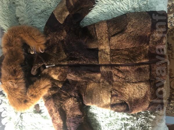 В хорошем состоянии дублёнка , мех целый , тёплая с натурального меха