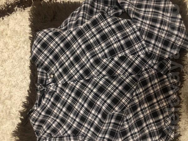 Школьный сарафан свободного кроя с укорочённым пиджаком примерно на р